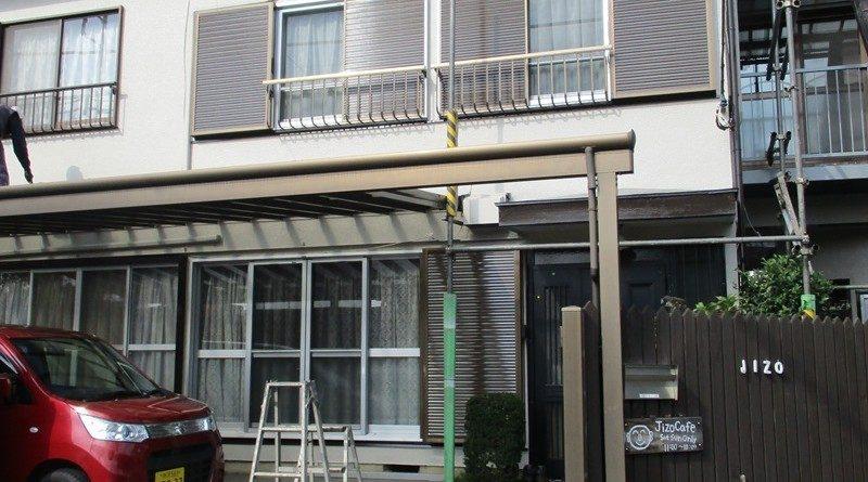 狭山市 外壁工事・Jizo Cafe (ジゾーカフェ)