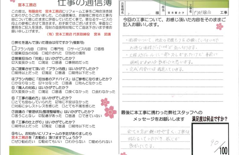 狭山市キッチン工事A様